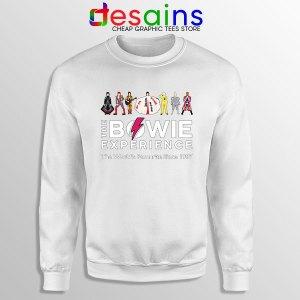 David Bowie Experience White Sweatshirt Still Alive
