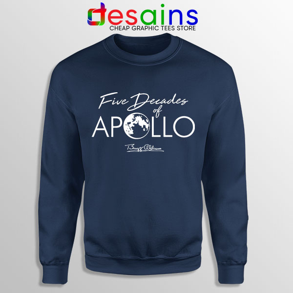 Five Decades of Apollo Navy Sweatshirt Elon Musk