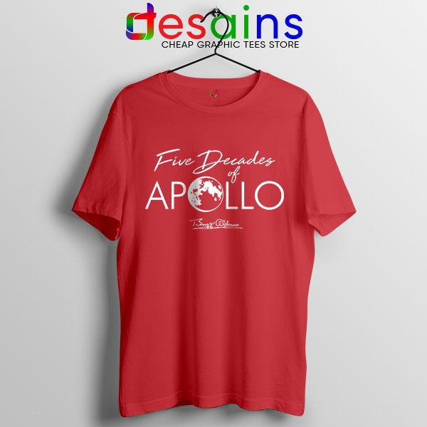 Five Decades of Apollo Red T Shirt Elon Musk