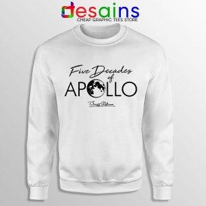 Five Decades of Apollo White Sweatshirt Elon Musk