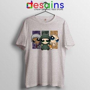 Glass Film Powerpuff Girls SPort Grey T Shirt Cartoon Split