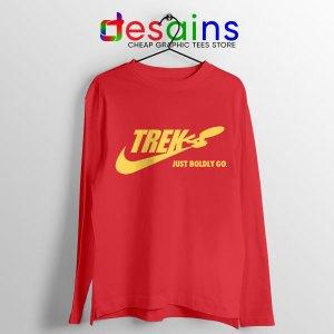 Go Boldly Star Trek Red Long Sleeve Tee Nike Just Do It