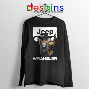 Jeep Maiden Skull Long Sleeve Tee Wrangler Heavy Metal