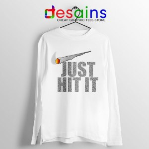 Just Hit It Nike Long Sleeve Tee Just Do It Smoke