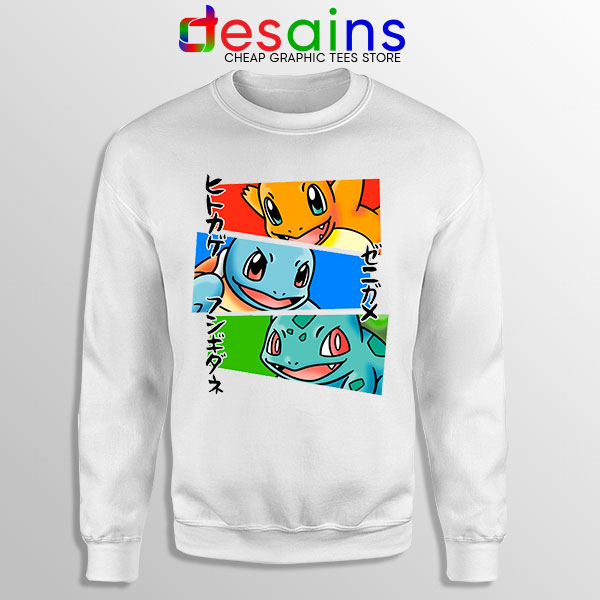 Kanto Japanese Pokemon Sweatshirt