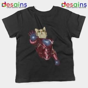 Meow Iron Man Avengers Kids Tee Funny Cats