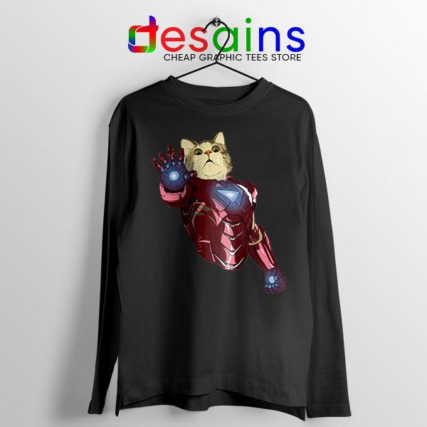 Meow Iron Man Avengers Long Sleeve Tee Funny Cats