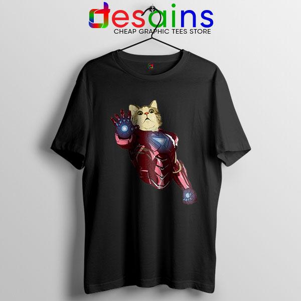 Meow Iron Man Avengers T Shirt Funny Cats