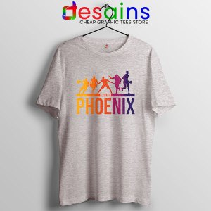 Phoenix Best 5 Lineup Sport Grey T Shirt Suns Finals NBA