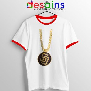 San Diego Padres Swag Red Ringer Tee MLB Merch