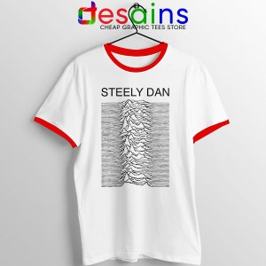 Steely Dan Division Logo Red Ringer Tee Rock Band