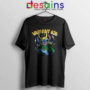 Variant Loki Funny Stitch Black T Shirt Marvel Comics TVA