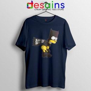 Batman Bart Butt Boy Navy T Shirt Cartoon Funny