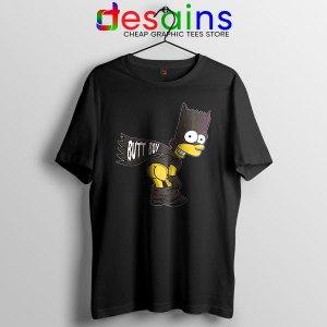 Batman Bart Butt Boy T Shirt Cartoon Funny