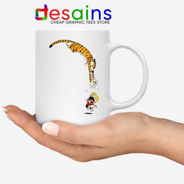 Calvin and Hobbes Jump Mug Funny Strip