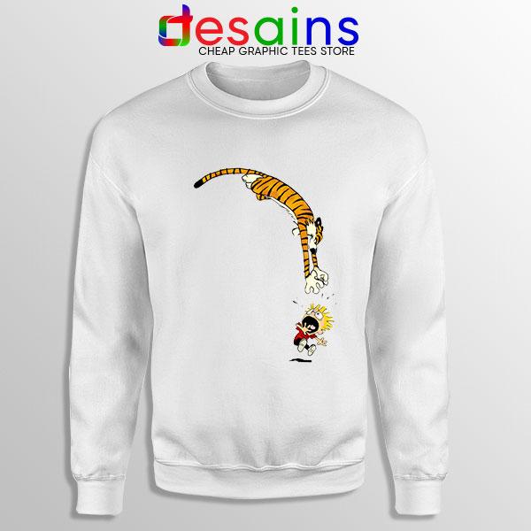 Calvin and Hobbes Jump Sweatshirt Funny Strip