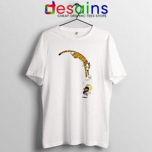 Calvin and Hobbes Jump T Shirt Funny Strip