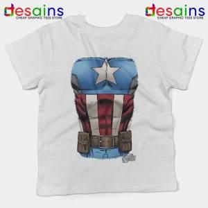 Captain America Chest Flag Kids Tee Avengers