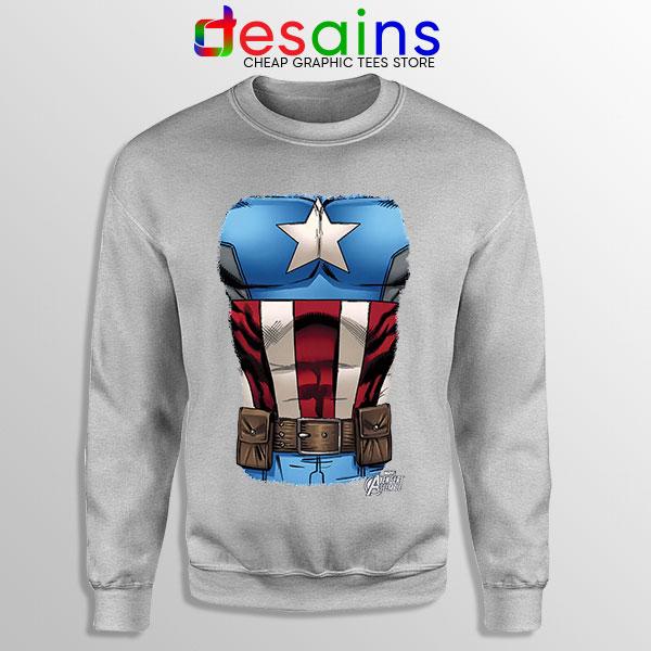 Captain America Chest Flag Sport Grey Sweatshirt Avengers