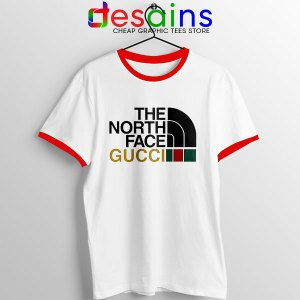 Cheap North Face Gucci Red Ringer Tee Funny Apparel