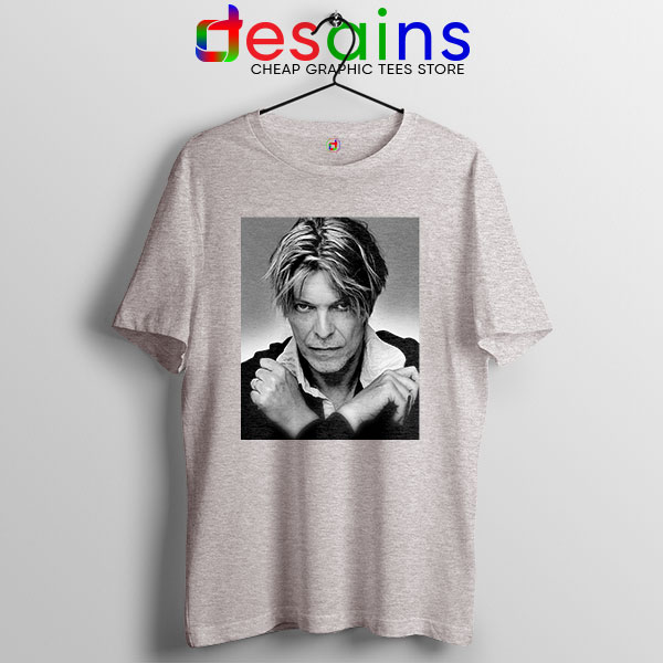 David Bowie Eyes Color Sport Grey T Shirt Album Cover