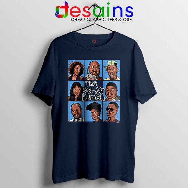 Fresh Prince Bel Air Bunch Navy T Shirt Belair Clothing