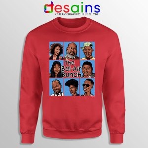 Fresh Prince Bel Air Bunch Red Sweatshirt Belair Clothing