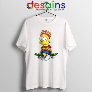Funny Bart Simpson Skateboard T Shirt Skate Pro