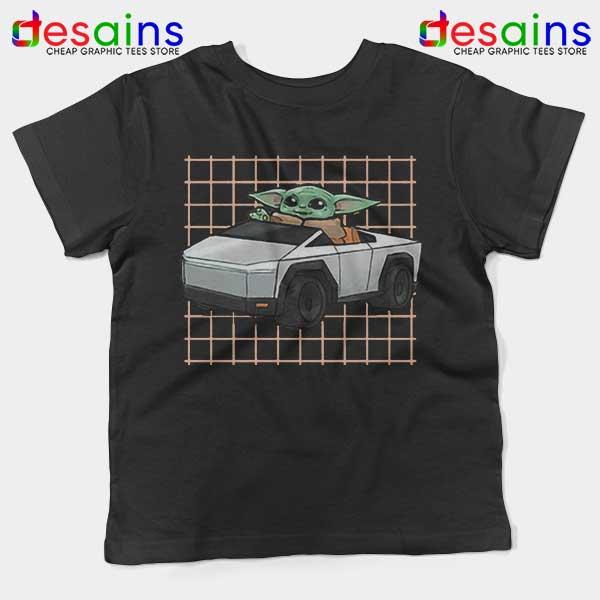 Funny Cybertruck Baby Yoda Kids Tee Tesla