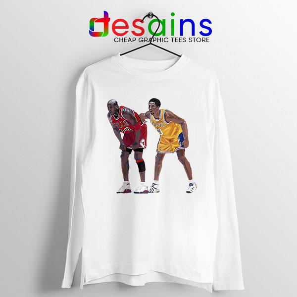 Kobe Jordan Real GOAT Long Sleeve Tee NBA Legend