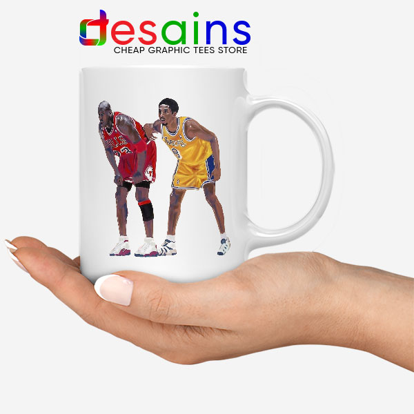 Kobe Jordan Real GOAT Mug NBA Legend