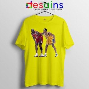 Kobe Jordan Real GOAT Yellow T Shirt NBA Legend