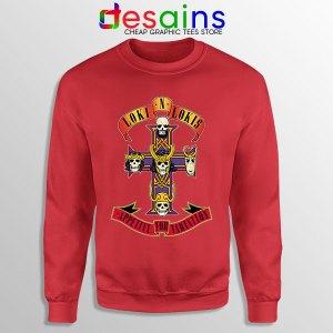 Loki Appetite for Destruction Red Sweatshirt Guns N Roses