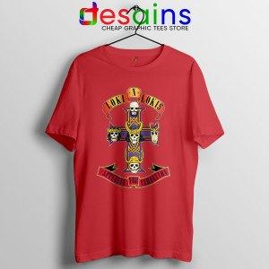 Loki Appetite for Destruction Red T Shirt Guns N Roses