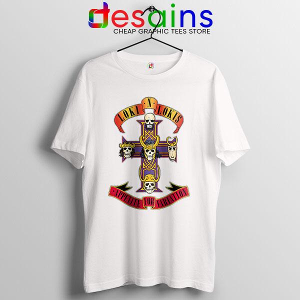 Loki Appetite for Destruction White T Shirt Guns N Roses