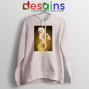 Marilyn Monroe Gold Smile Sport Grey Hoodie Sexy Actress