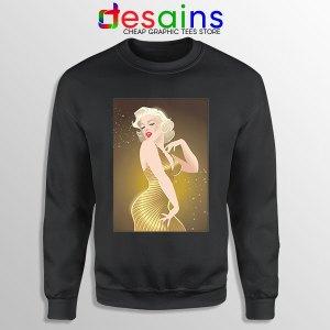 Marilyn Monroe Gold Smile Sweatshirt Sexy Actress
