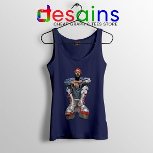 Marvin Gaye Music Boots Navy Tank Top Back In 73