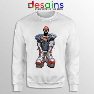 Marvin Gaye Music Boots Sweatshirt Back In 73