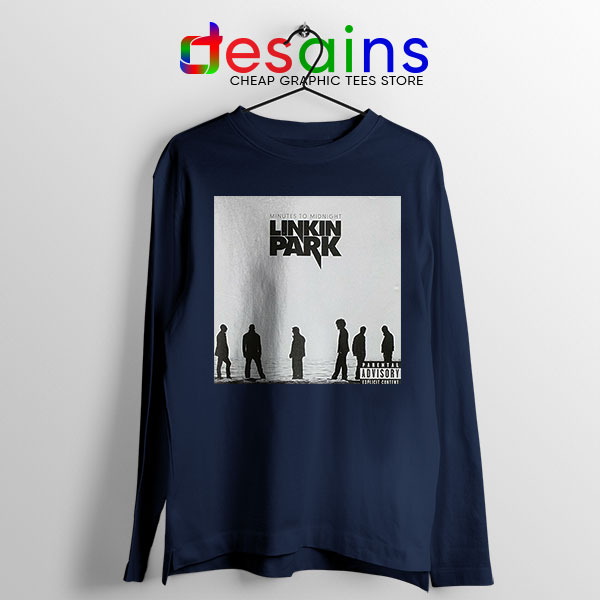 Minutes to Midnight Cover Art Navy Long Sleeve Tee Linkin Park