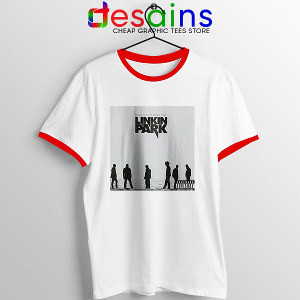 Minutes to Midnight Cover Art Red Ringer Tee Linkin Park