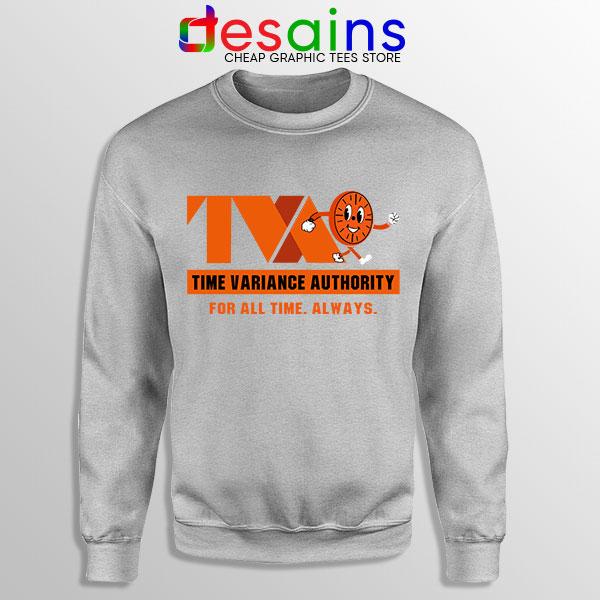 Miss Minutes TVA Loki Sport Grey Sweatshirt Marvel Merch