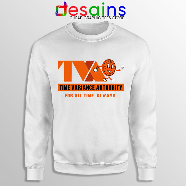 Miss Minutes TVA Loki White Sweatshirt Marvel Merch