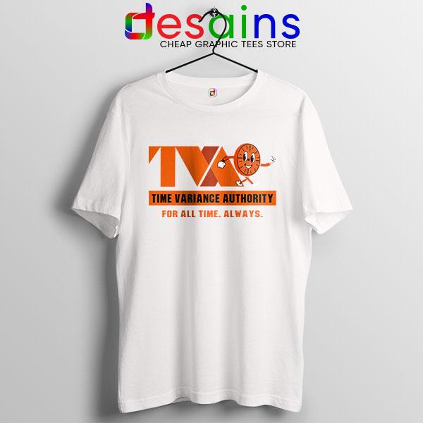 Miss Minutes TVA Loki White T Shirt Marvel Merch