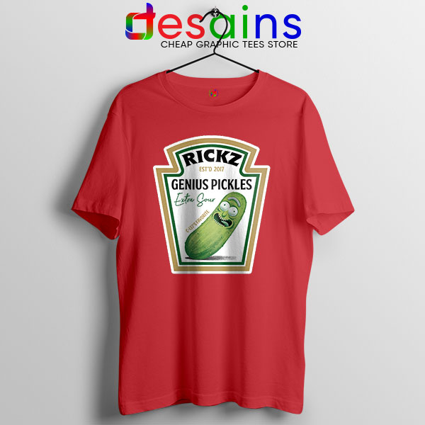 Pickle Rick Heinz logo Red T Shirt Rick and Morty