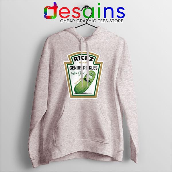 Pickle Rick Heinz logo Sport Grey Hoodie Rick and Morty