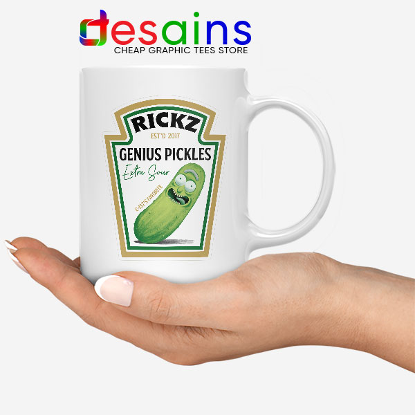 Pickle Rick Heinz logo White Mug Rick and Morty