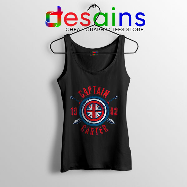 Shield Captain Carter Black Tank Top What If Series