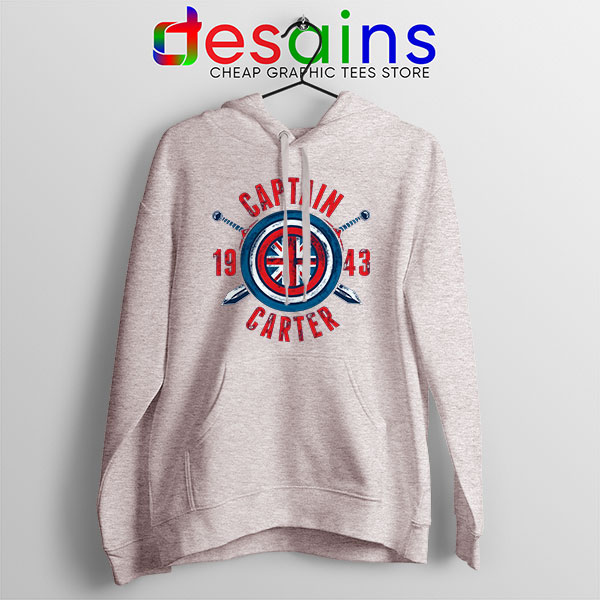 Shield Captain Carter Sport grey Hoodie What If Series