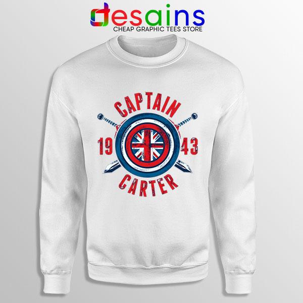 Shield Captain Carter White Sweatshirt What If Series